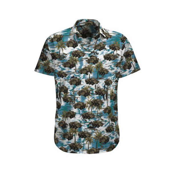 Blue Amx 10 Rc French Army Hawaiian Shirt And Shorts