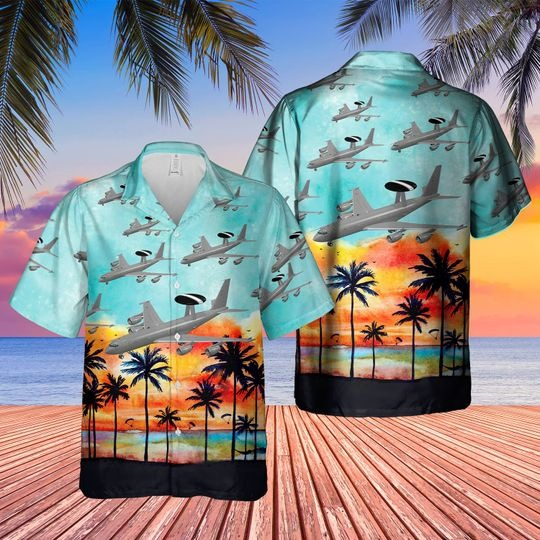 Boeing 3 3d sentry aew1 hawaiian shirt 1 2