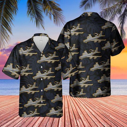 Boeing 3 3d sentry aew1 hawaiian shirt 1 3