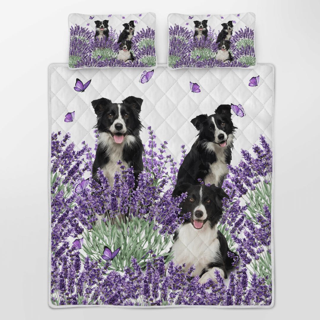 Border Collie Lavender Quilt