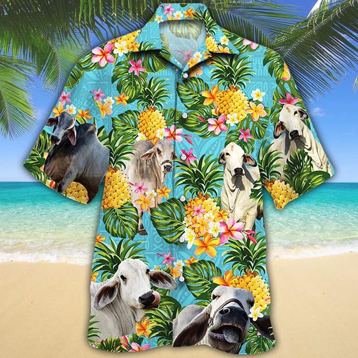 Brahman Cattle Lovers Hawaiian Shirt 1