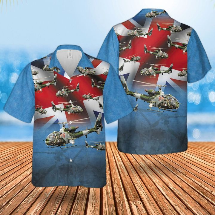 Bristish Army Aerospatiale Gazelle Hawaiian Shirt and short