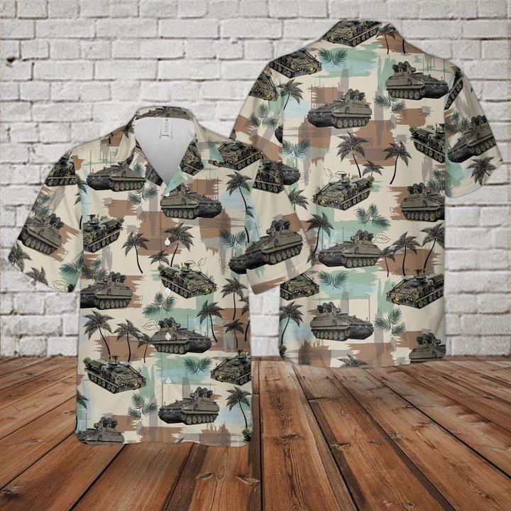 Bristish Army Alvis Stormer Hvm Combat Vehicle Hawaiian Shirt and short