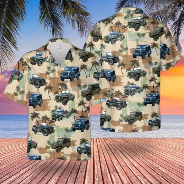 Bristish Army Army Austin Champ Hawaiian Shirt and short