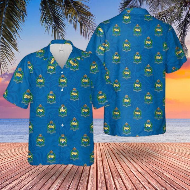 Bristish Army Blue Kings Own Royal Border Regiment Hawaiian Shirt