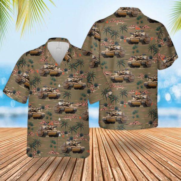Bristish Army Challenger 2 Combat Vehicle Hawaiian Shirt and short