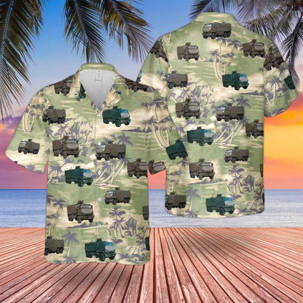 Bristish Army Mowag Duro All Terrain Truck Hawaiian Shirt and short