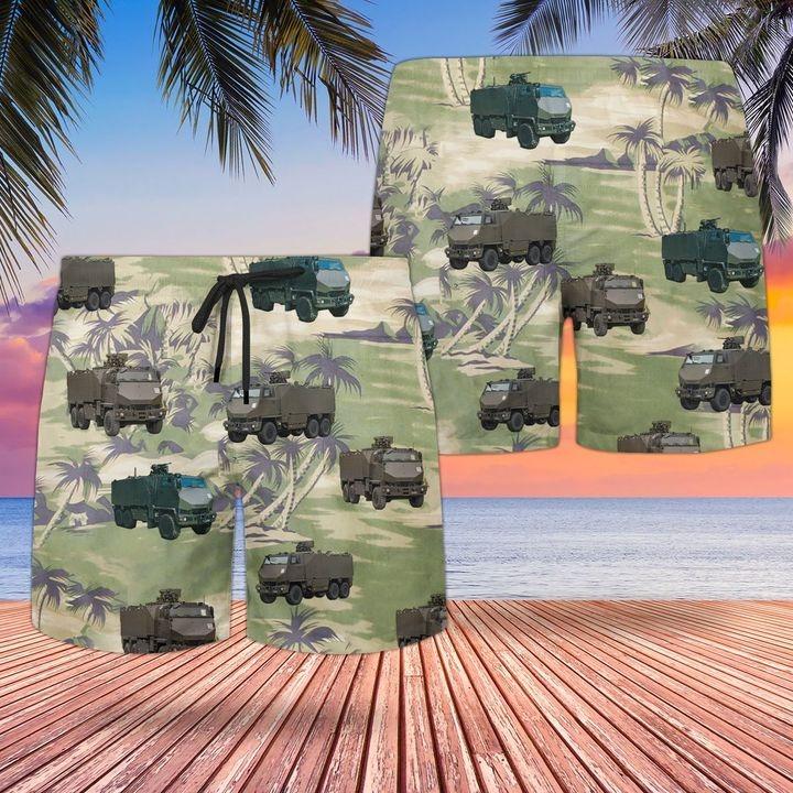 Bristish Army Mowag Duro All Terrain Truck Hawaiian Shirt and short1