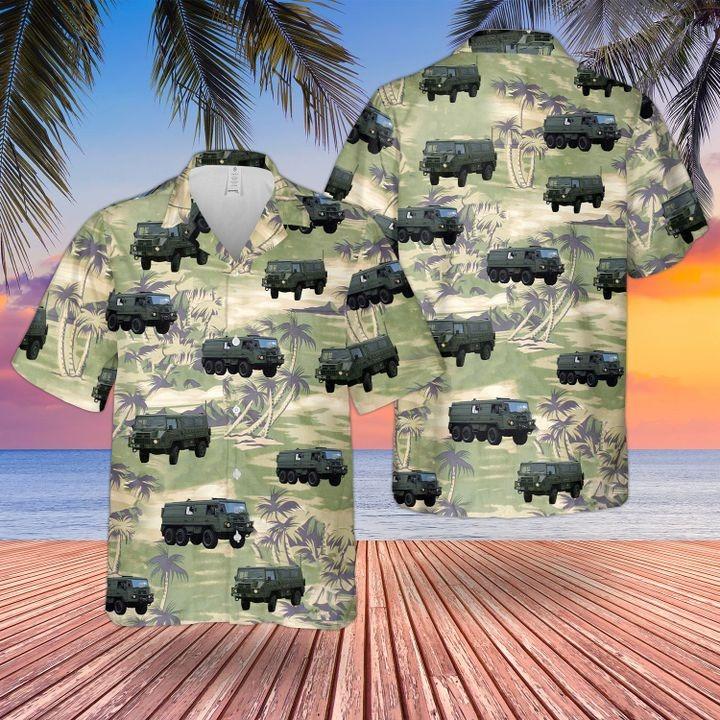 Bristish Army Pinzgauer All Terrain Truck Hawaiian Shirt and short