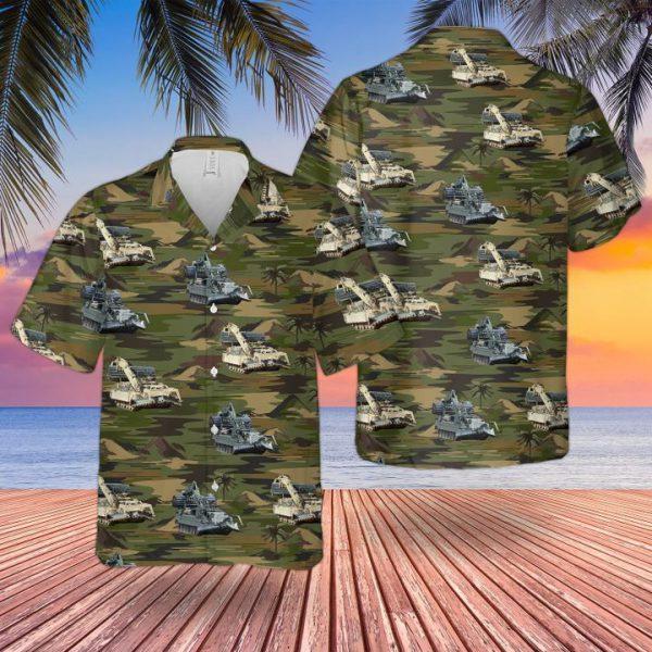 Bristish Army Trojan Assault Breacher Vehicle Hawaiian Shirt and short