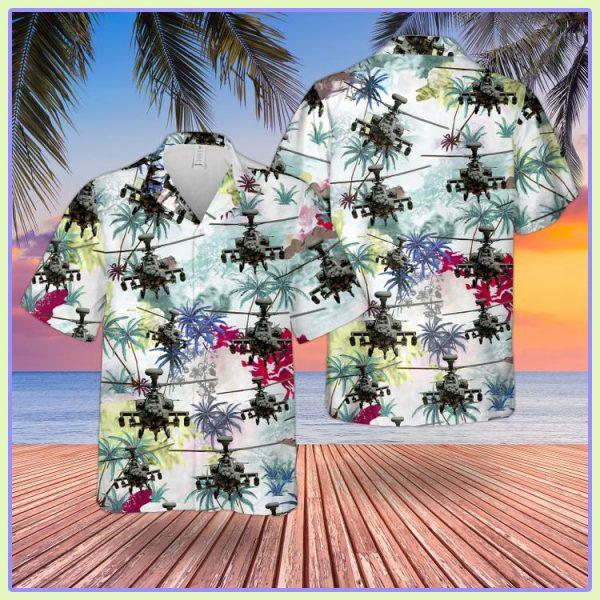 Bristish Army Westland Wah 64 Apache Hawaiian Shirt1