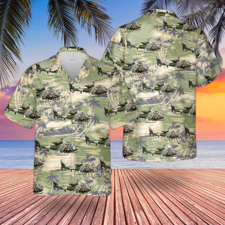 British Army Aerospatiale Gazelle Hawaiian Shirt