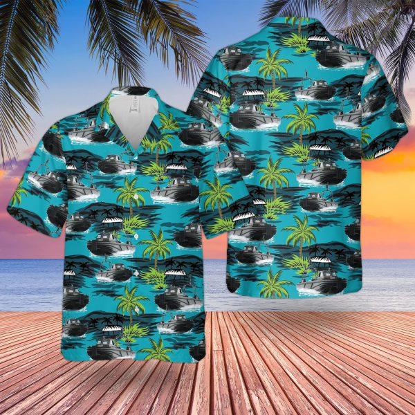 British Army Combat Support Boat Hawaiian Shirt
