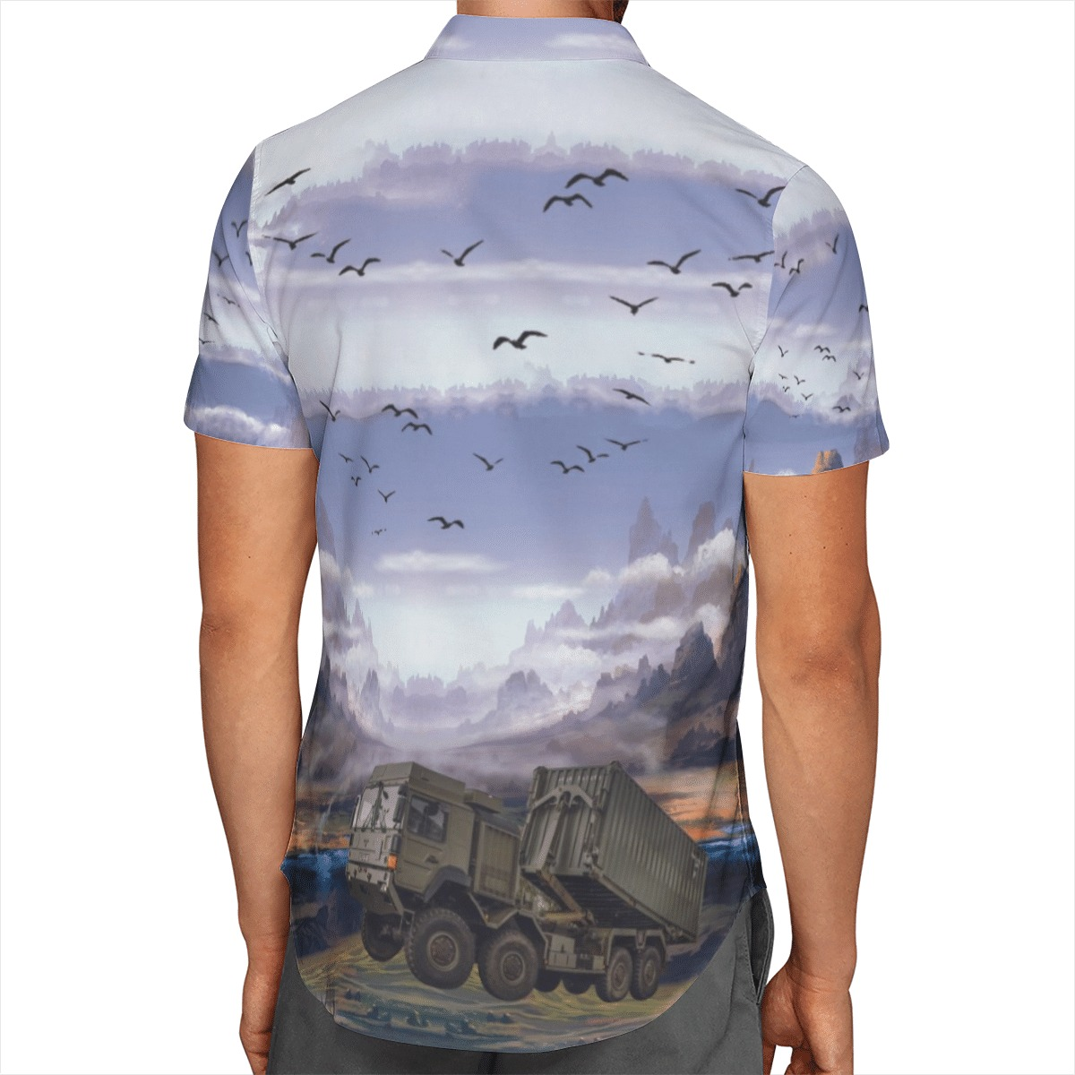 British Army Enhanced Pallet Load System EPLS Hawaiian Shirt