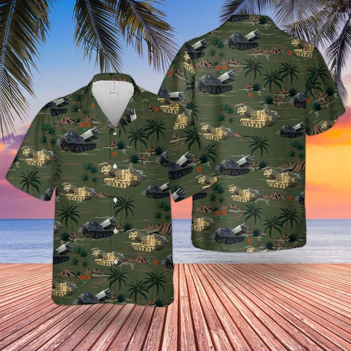 British Army Guided Multiple Launch Rocket System Hawaiian Shirt