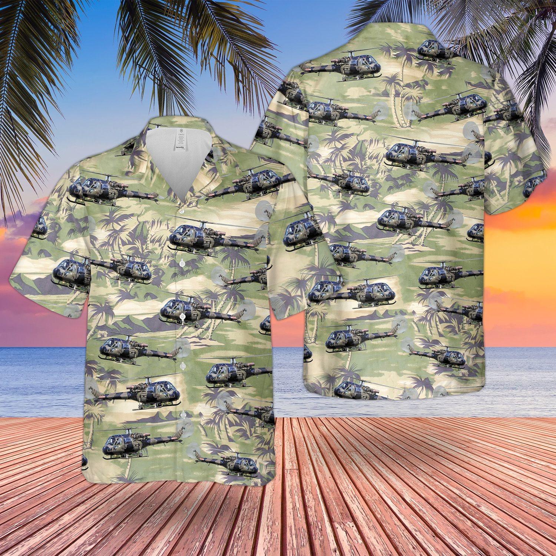 British Army Historical Westland Scout Ah1 Hawaiian Shirt
