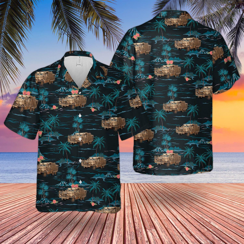 British Army Mastiff Ppv Protected Patrol Vehicle Hawaiian Shirt