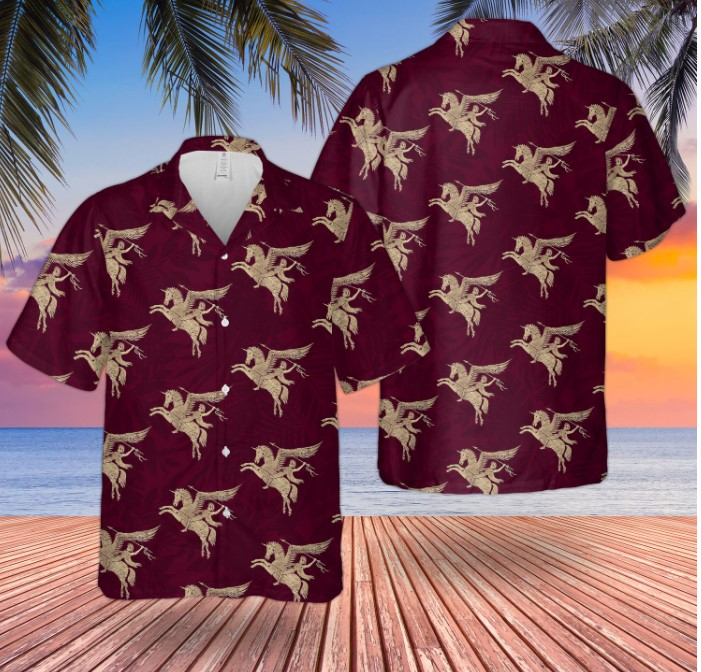 British Army Paras Airborne Forces Pegasus Hawaiian Shirt