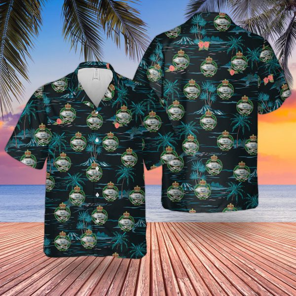 British Army Royal Tank Regiment Hawaiian Shirt