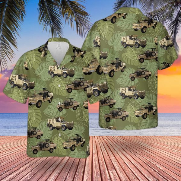 British Army Rwmik Land Rover Revised Weapons Mounted Installation Kit Hawaiian Shirt