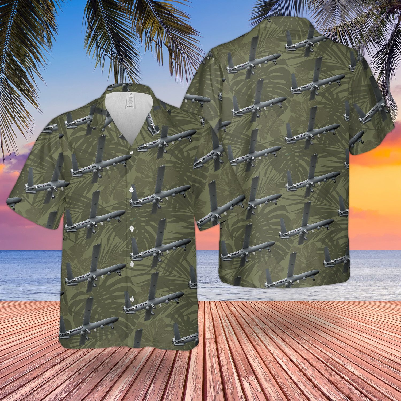 British Army Thales Watchkeeper Wk450 Unmanned Aerial Vehicle Hawaiian Shirt