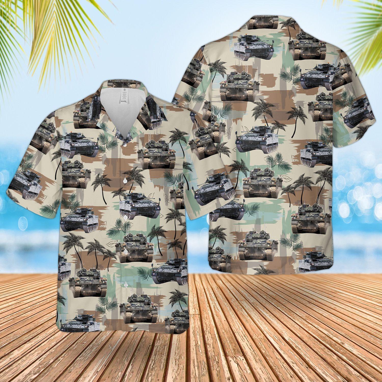 British Army Warrior Tracked Armoured Vehicle Hawaiian Shirt