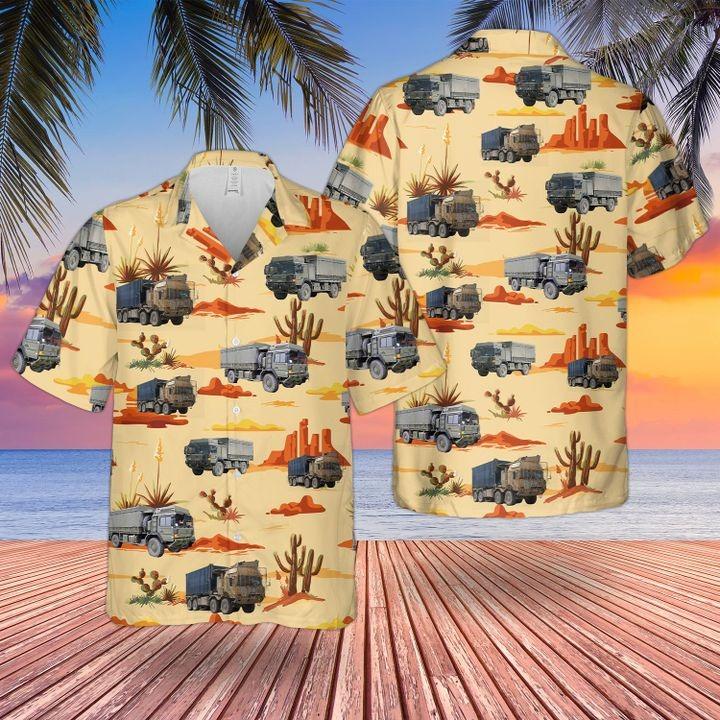 British Man Sv Support Vehicle Hawaiian Shirt and short