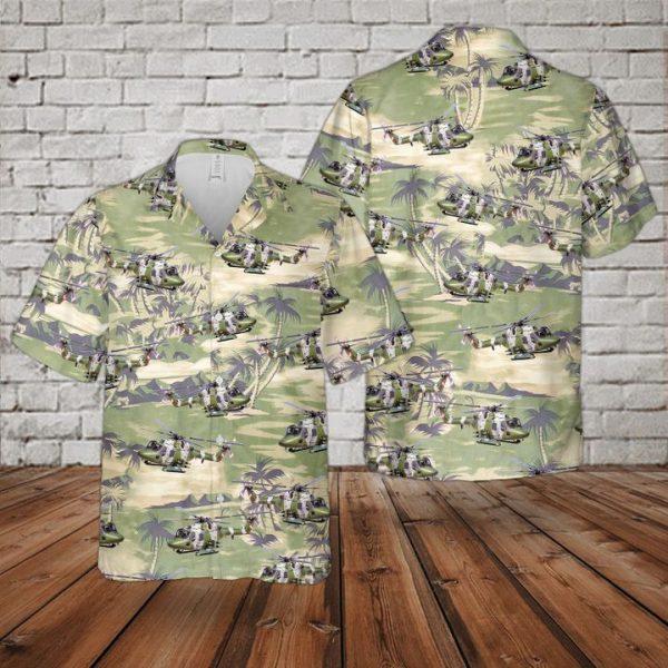 British Westland Lynx Ah7 Hawaiian Shirt and short