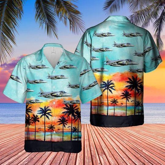 British aerospace harrier II harrier gr7 hawaiian shirt 1 3
