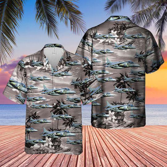 British aerospace harrier II harrier gr7 hawaiian shirt 1 4