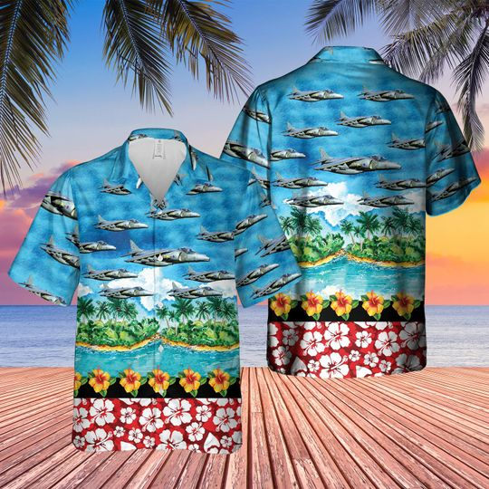 British aerospace harrier II harrier gr7 hawaiian shirt 1 5