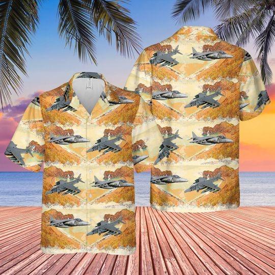 British aerospace harrier II harrier gr7 hawaiian shirt 1 7