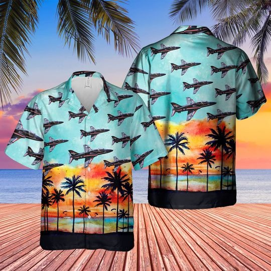 British aerospace hawk t1 hawaiian shirt 1 1