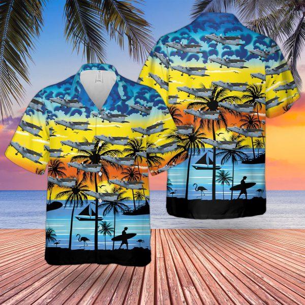 Britten Norman Defender Hawaiian Shirt