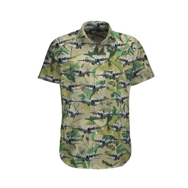 Camo C 130j Hercules Royal Australian Air Force Hawaiian Shirt And Shorts