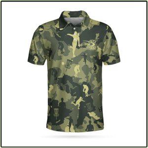 Camo Texture Disc Golf Polo Shirt1