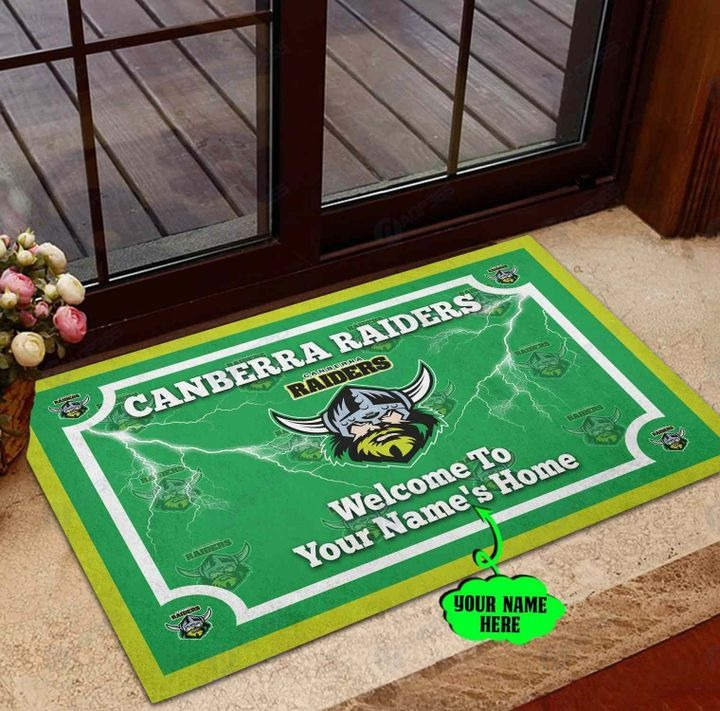 Canberra Raiders Personalized welcome to home Doormat