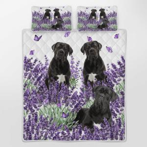 Cane Corse Lavender Quilt