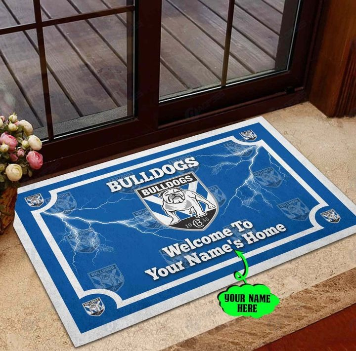 Canterbury Bankstown Bulldogs welcome to home Personalized Doormat