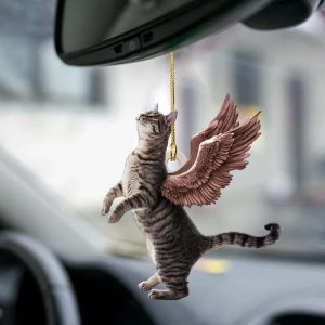 Cat Angle Wings Two Sideda Ornament
