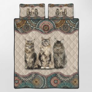Cats Maine Coon Quilt Bedding Set1