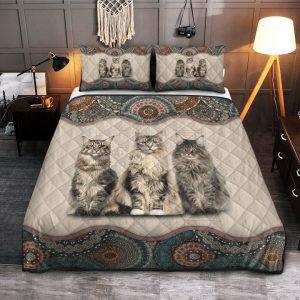 Cats Maine Coon Quilt Bedding Set2