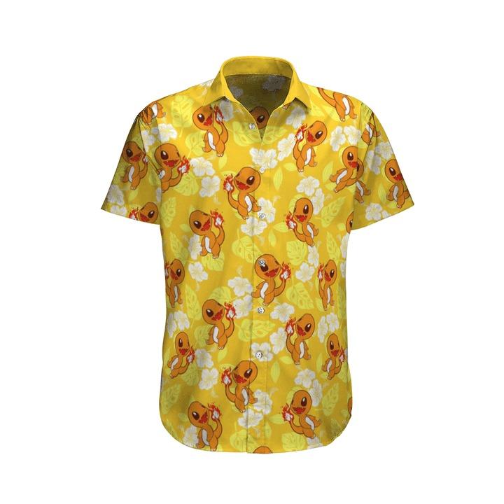 Charmander Pokemon Hawaiian Shirt