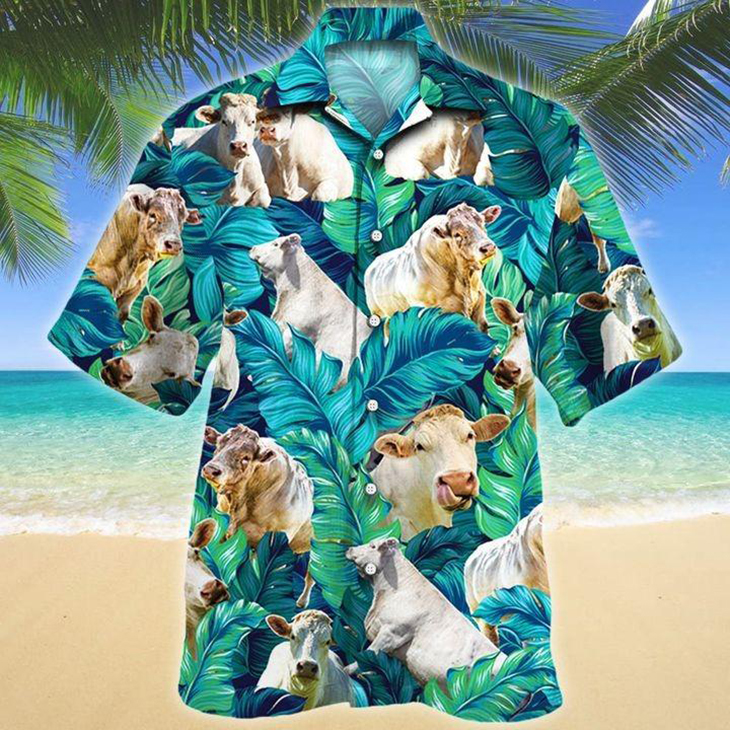 Charolais Cattle Lovers Hawaiian Shirt