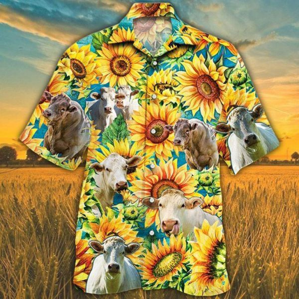 Charolais Cattle Lovers Hawaiian Shirt4 1