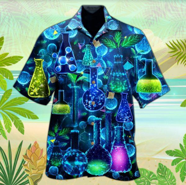 Chemistry neon hawaiian shirt