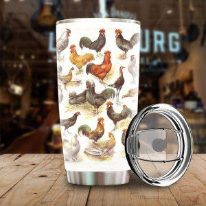 Chicken Breeds Stainless Steel Tumbler