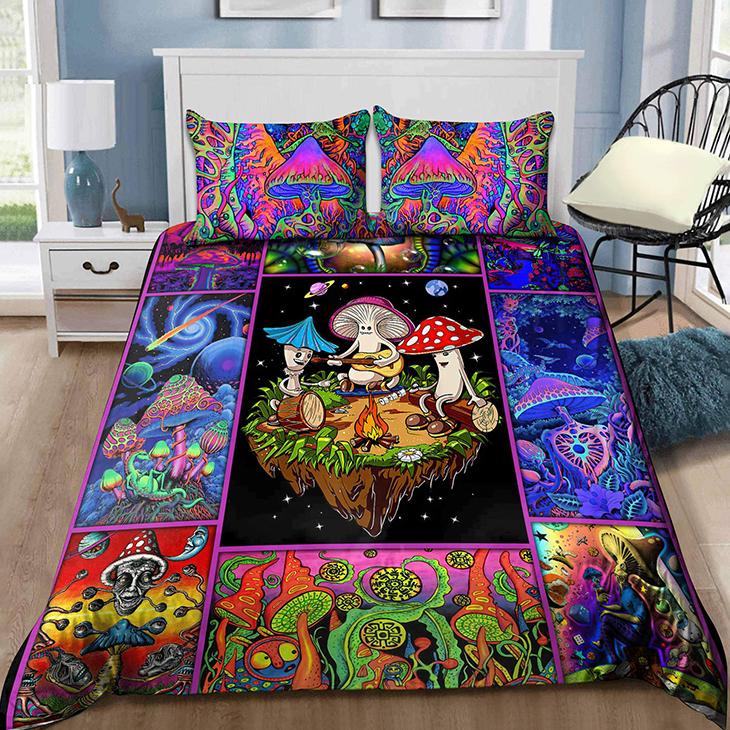Colorful Mushroom Hipie Bedding Set3