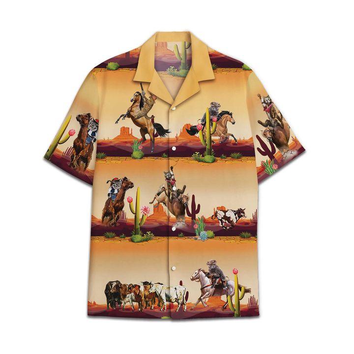 Cowboy Cat Hawaiian Shirt 1