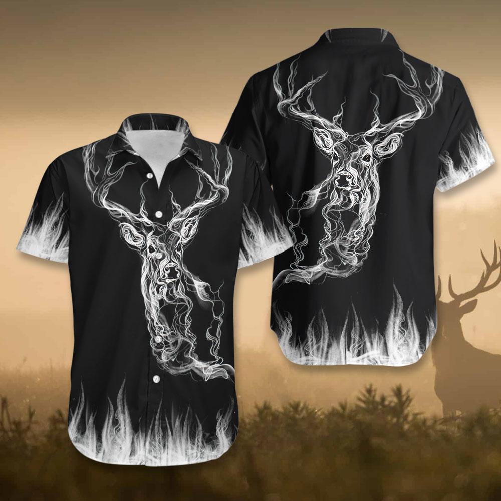 Deer Hunting Smoke Em Deer Hawaiian Shirt